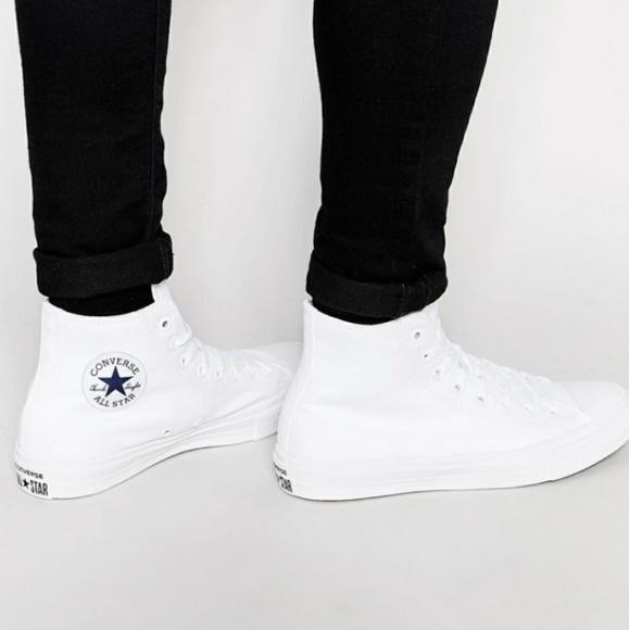 ee0caa0723ae4 NWT Converse Chuck II 2 Hi Top White Nike Lunarlon